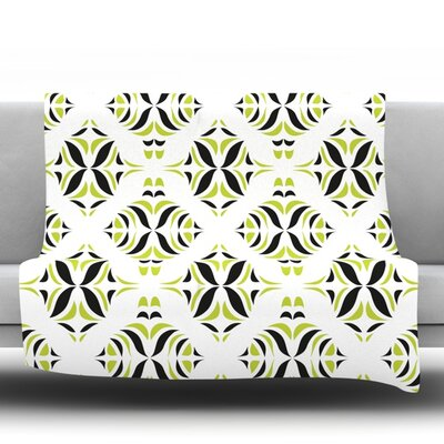 Throw Blanket Size: 80 L x 60 W, Color: Lime Green Rainforest