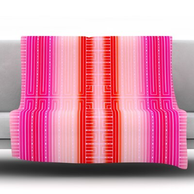 Throw Blanket Size: 80 L x 60 W, Color: Deco City Blush