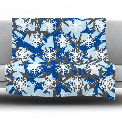 Throw Blanket Color: Ice Topography, Size: 60 L x 50 W
