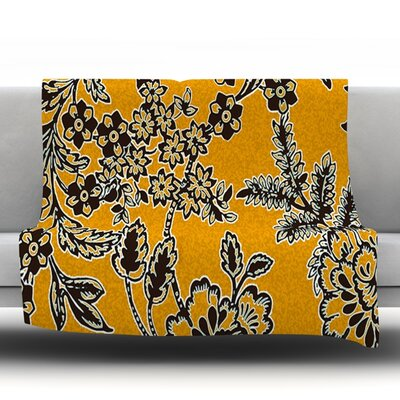 Throw Blanket Size: 80 L x 60 W, Color: Golden Blossom