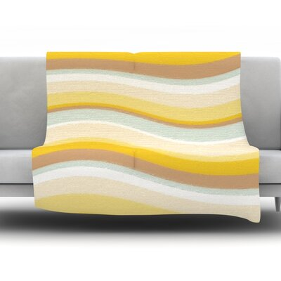 Desert Waves Fleece Throw Blanket Size: 80 L x 60 W