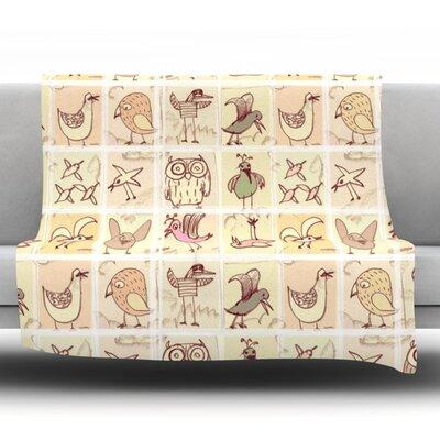 Birdies Throw Blanket Size: 90 L x 90 W