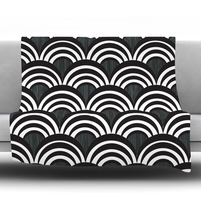 Art Deco Throw Blanket Size: 80 L x 60 W, Color: Black