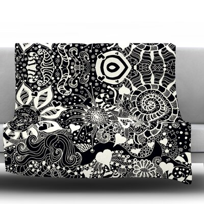 Throw Blanket Color: Black / White, Size: 60 L x 50 W