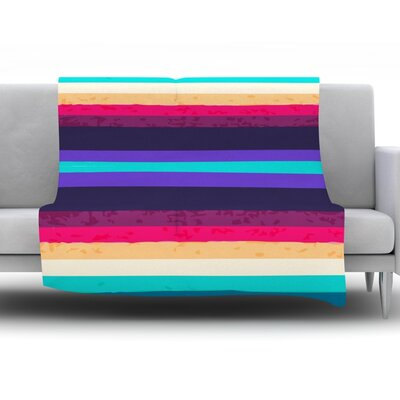Throw Blanket Size: 40 L x 30 W, Color: Surf Stripes