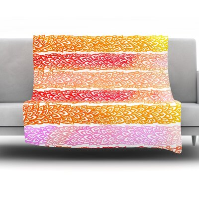 Throw Blanket Color: Leafs From Paradise, Size: 60 L x 50 W
