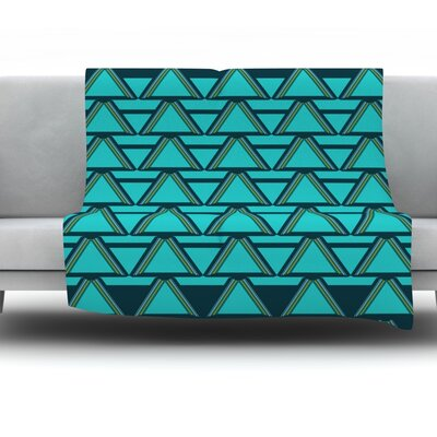 Throw Blanket Color: Deco Angles, Size: 80 L x 60 W