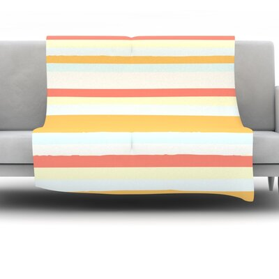 Throw Blanket Size: 80 L x 60 W, Color: Sand Stripes