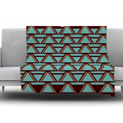 Throw Blanket Size: 80 L x 60 W, Color: Deco Angles Choco Mint