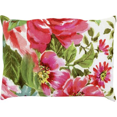Walk Through The Garden Flowers Outdoor Lumbar Pillow Size: 14 H x 20 W x 3 D