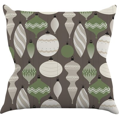 Mixed Ornaments Throw Pillow Size: 18 H x 18 W x 3 D, Color: Brown