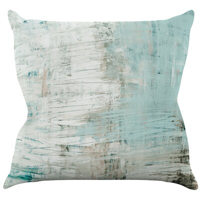 Bluish by Iris Lehnhardt Throw Pillow Size: 16 H x 16 W x 3 D