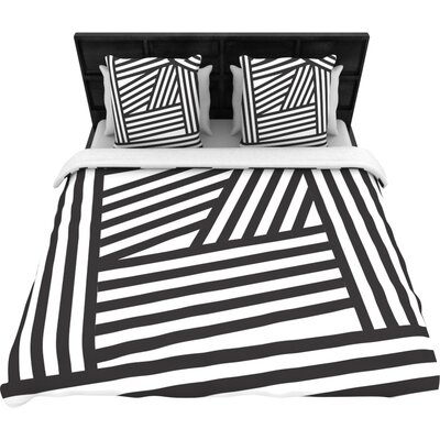 Stripes Woven Comforter Duvet Cover Size: Twin