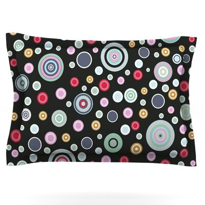Circle Circle II by Suzanne Carter Featherweight Pillow Sham Size: Queen, Fabric: Cotton