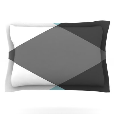 Diamonds by Suzanne Carter Featherweight Pillow Sham Size: King, Fabric: Cotton