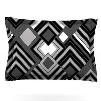 Luca by Jacqueline Milton Featherweight Pillow Sham Size: Queen, Color: Monochrome