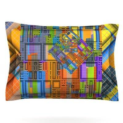 Tile Rep by Michael Sussna Featherweight Pillow Sham Size: Queen, Fabric: Cotton