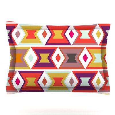 Aztec Weave by Pellerina Design Featherweight Pillow Sham Size: Queen, Fabric: Cotton