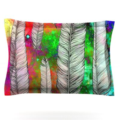 Feather by Suzanne Carter Featherweight Pillow Sham Size: Queen, Fabric: Cotton