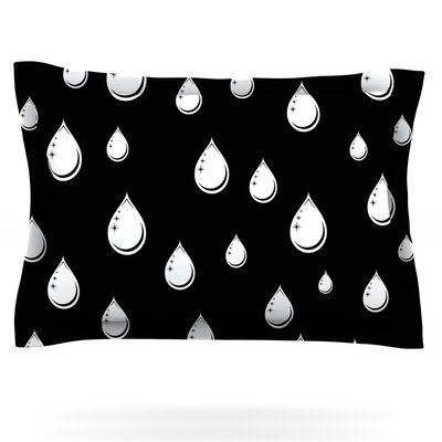 Raindrops by Suzanne Carter Featherweight Pillow Sham Size: King, Fabric: Cotton
