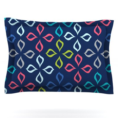 Simple Flower by Jolene Heckman Featherweight Pillow Sham Size: King, Fabric: Cotton