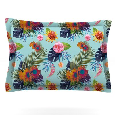 Tropical Floral by Nika Martinez Featherweight Pillow Sham Size: Queen, Fabric: Cotton
