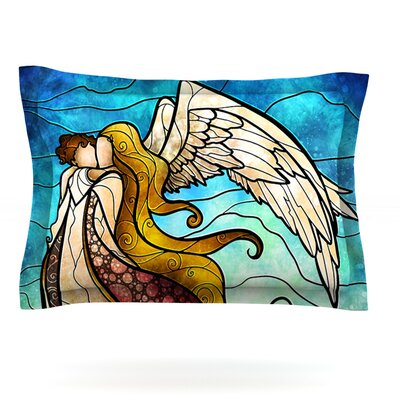In the arms of the Angel by Mandie Manzano Featherweight Pillow Sham Size: Queen, Fabric: Cotton