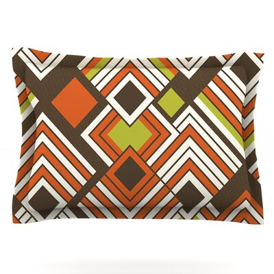 Luca by Jacqueline Milton Featherweight Pillow Sham Color: Coffee, Size: King