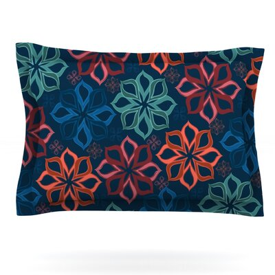 Floral Charm by Jolene Heckman Featherweight Pillow Sham Size: Queen, Fabric: Cotton