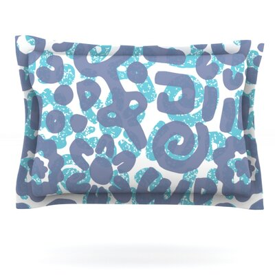 Tribus by Chickaprint Featherweight Pillow Sham Size: Queen, Fabric: Cotton