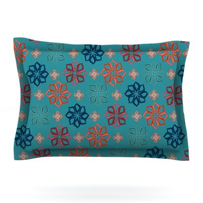 Turquoise Mini by Jolene Heckman Featherweight Pillow Sham Size: Queen, Fabric: Cotton