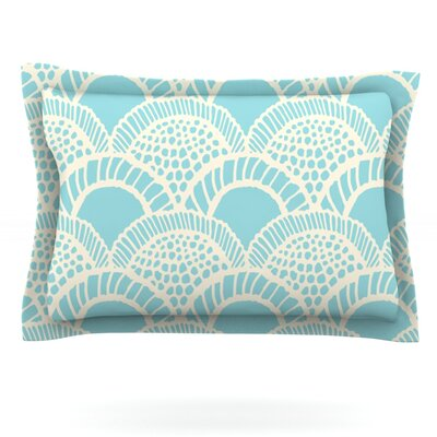 Heathered Scales by Suzie Tremel Featherweight Pillow Sham Size: Queen, Fabric: Cotton
