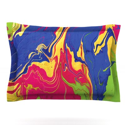 Escaping Reality by Claire Day Featherweight Pillow Sham Size: Queen, Fabric: Cotton