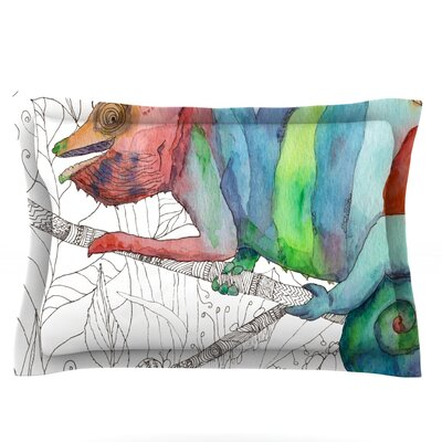 Chameleon Fail by Catherine Holcombe Featherweight Pillow Sham Size: King, Fabric: Cotton