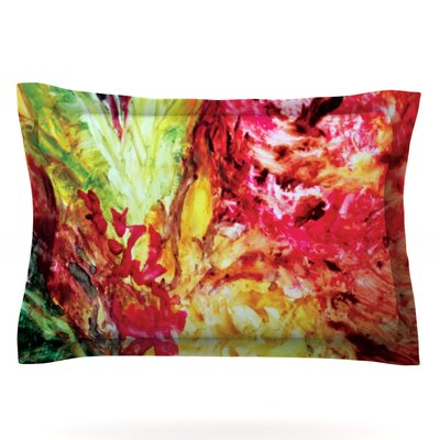 Passion Flowers I by Mary Bateman Featherweight Pillow Sham Size: King, Fabric: Cotton