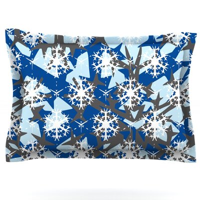 Ice Topography by Miranda Mol Featherweight Pillow Sham Size: Queen, Fabric: Cotton