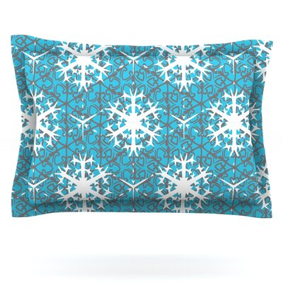 Precious Flakes by Miranda Mol Featherweight Pillow Sham Size: King, Fabric: Cotton