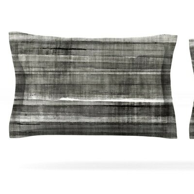 Gray Accent by CarolLynn Tice Featherweight Pillow Sham Size: King, Fabric: Cotton
