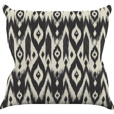 Tribal Ikat by Amanda Lane Dark Throw Pillow Size: 18 H x 18 W x 1 D