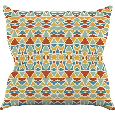 Tribal Imagination Throw Pillow Size: 18 H x 18 W