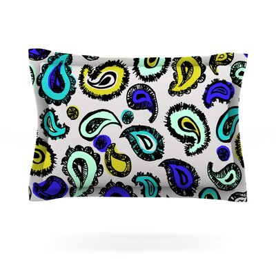 Fun by Gabriela Fuente Woven Pillow Sham Size: Queen, Color: Blue