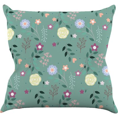 Flora by Louise Flowers Throw Pillow Size: 26 H x 26 W x 5 D
