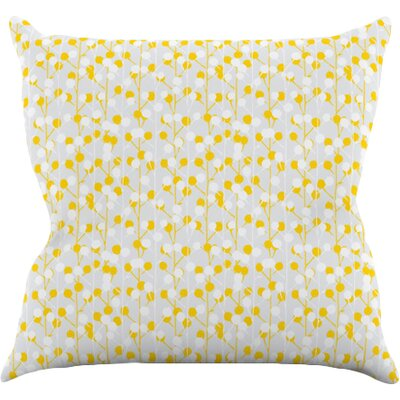 Lemon Drop by Julie Hamilton Throw Pillow Size: 16 H x 16 W x 3 D