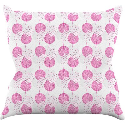 Wild Dandelions by Apple Kaur Designs Throw Pillow Size: 18 H x 18 W x 3 D