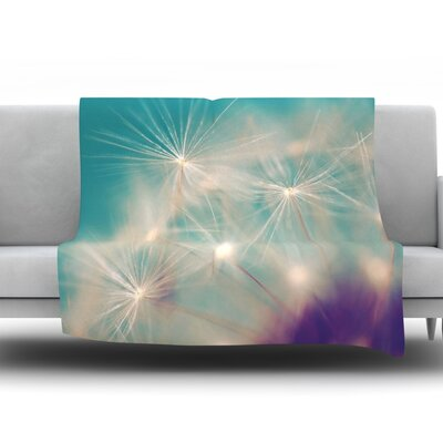 Dandelion Seedhead by Sylvia Cook Fleece Throw Blanket Size: 60 H x 50 W x 1 D