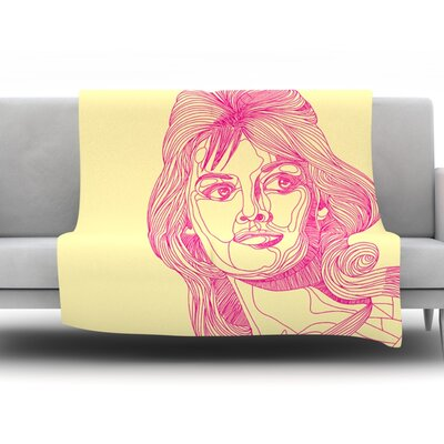 Bardot by Roberlan Fleece Throw Blanket Size: 90 H x 90 W x 1 D