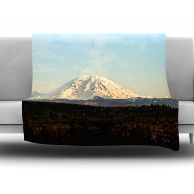 Mt. Rainier by Sylvia Cook Fleece Throw Blanket Size: 40 H x 30 W x 1 D