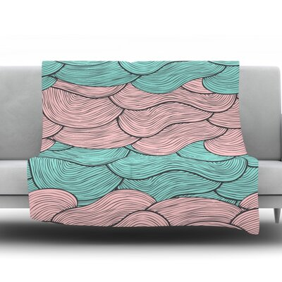Summerlicious by Pom Graphic Design Fleece Throw Blanket Size: 40 H x 30 W x 1 D