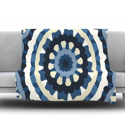 Ribbon Mandala by Laura Nicholson Fleece Throw Blanket Size: 40 H x 30 W x 1 D