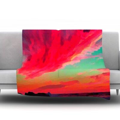 Apetto Allalba by Oriana Cordero Fleece Throw Blanket Size: 60 H x 50 W x 1 D